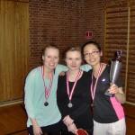 Medaljer til Penny, Ema og Anne Mette
