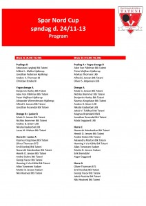 program spar nord cup 24-11-13