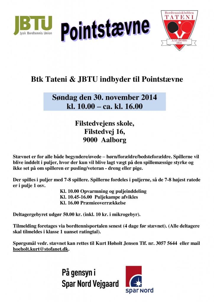 Pointstævne - btk Tateni 30-11-14